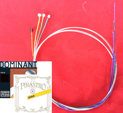 Dominant violin Strings Set 4/4 135B A,D,G  with Gold Label E Ball End