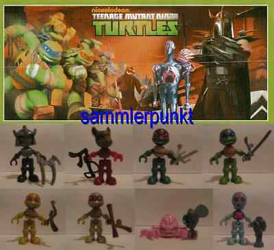 NEU***Komplettsatz TEENAGE MUTANT NINJA TURTLES + 8 BPZ***NEU