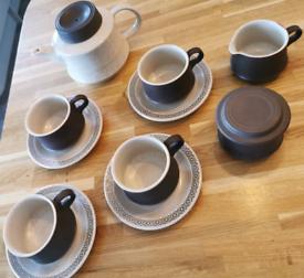 Brown & Beige Coffee/Tea Set