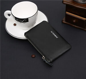Genuine Leather Unisex Small Wallet Coin Purse Pocket ID Credit Card Holder Case