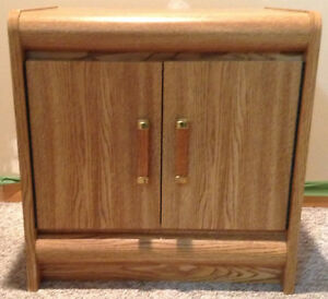 One All Wood Night Stand with 2 Front Doors