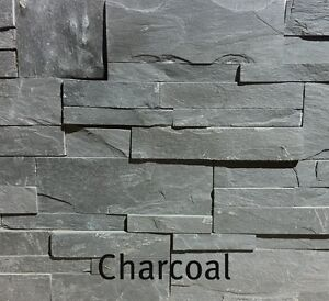 Natural Ledge- Charcoal In Colour