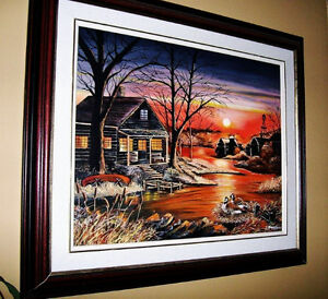 REDUCED !!!Beautiful Sunset Oil Painting Stratford Kitchener Area image 1