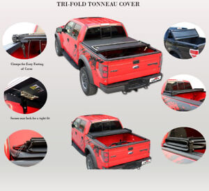 Tri-fold Soft Tonneau Cover for DODGE RAM/ FORD/ CHEVROLET/ GMC