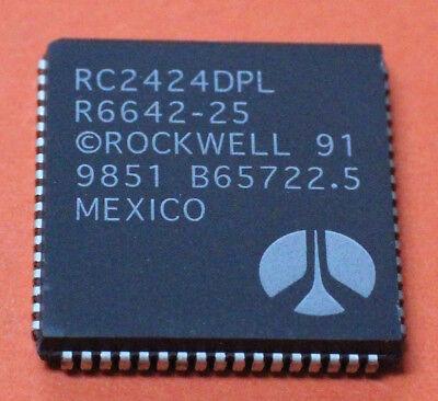 2 STK R6642 25 RC2424DPL ROCKWELL MODEM DATA PUMP PLCC 68 2PCS