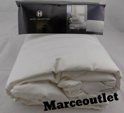 Hotel Collection 525 Thread Count 100% Cotton QUEEN Sheet Set White