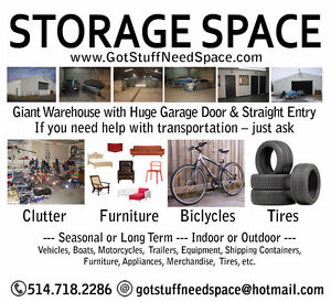 HEATED SPACE FOR RENT (WINTER SEASON) LONGER OPTIONS AVAILABLE