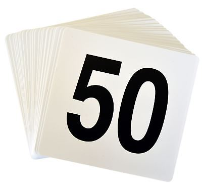 Table Number Cards (Wedding Event Party Table Number Plastic Place Cards 1-50. Double)