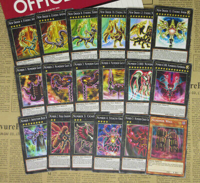 Order Number (18pcs YuGiOh Zexal Anime Special Cards New Order Number iC1000 Numeronius)