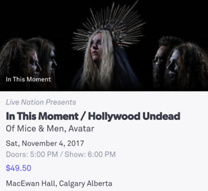 In this Moment / Hollywood Undead Tickets