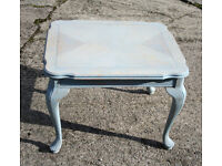 Wooden Side Table, Antique Style Painted Cotswold Green