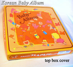 Korean Baby Album, boxed for gift, expandable