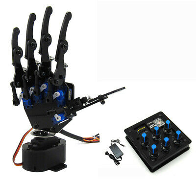 Diy 6 Channel Control Mechanical Arm Bionic Robot Hand Electric Remote Control Y