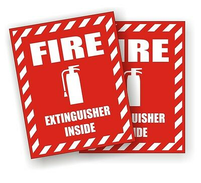 2 Fire Extinguisher Inside Safety Decals Stickers Industrial Safety Labels