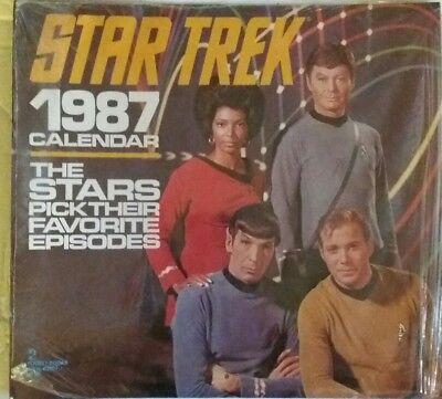 Star Trek 1987 The Stars Pick Their Fave Episode Calendar
