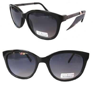 NWT TOMMY HILFIGER Olivia Womens Sunglasses Black/Purple (Womens Tommy Hilfiger Sonnenbrille)