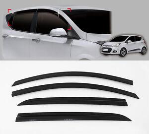 Smoke Window Sun Wind Rain Visor Vent 4p For 2014 2015 Hyundai i10 5door