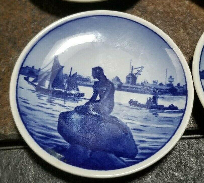 """Royal Copenhagen 2-2010 Langelinie Denmark Little Mermaid Mini Plate 3 1/4"""""""