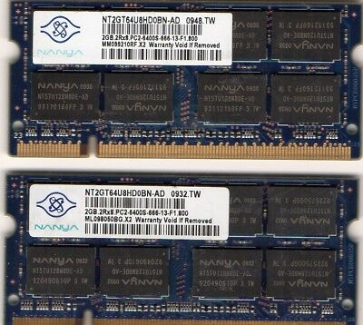 4GB 2x 2GB Kit IBM/Lenovo Thinkpad R60/R60e/R61/R61e/T60/T60p/T61/X60/X61 Memory for sale  Shipping to India