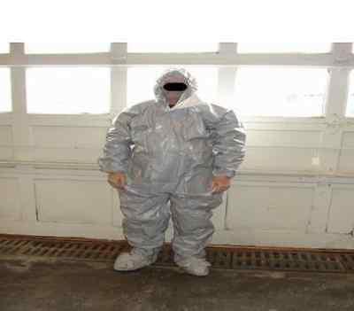 Case 12 Tychem Suit Tyvek Proshield Cpf2 Gray Coveralls 2xl Hazmat Dupont