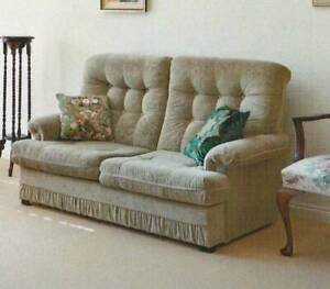 2-seater Olive Green Upholstered Sofa (2 to give away)