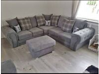 🔰🔰 Beautiful Grey Chenille Fabric Sofas 🔰🔰 Made With Finest Fabrics and Solid Timber