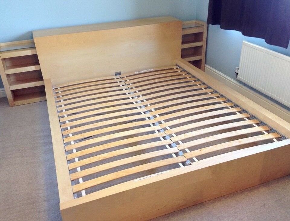 ikea sultan luroy slatted double bed exc mattress 90x200cm in lisburn county antrim gumtree. Black Bedroom Furniture Sets. Home Design Ideas