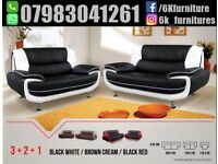 FREE DELIVER YDISCOUNTED OFFER LEATHRE CAROL SOFA 3+2 SEATER