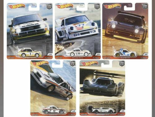 2020 Hot Wheels Hill Climbers Set of 5 Cars Car Culture 1/64 Diecast Cars