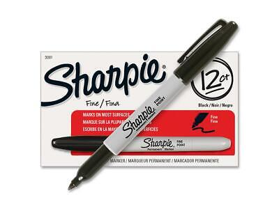 Sharpie Permanent Fine Point Marker Black 30001 12 Ct Free Black Pens 12 Ct