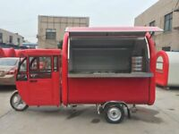Electric Engine Bike Mobile Catering Trailer Food Cart Burger Van Ice Cream Cart