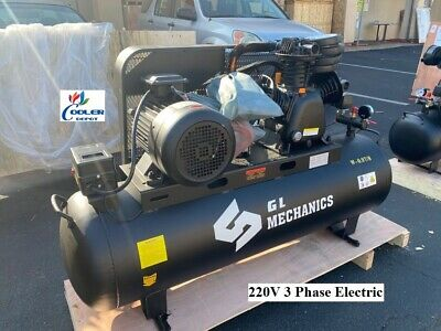 New 10 Hp Piston Two Stage Air Compressor Corded Electric Model 220v 3ph