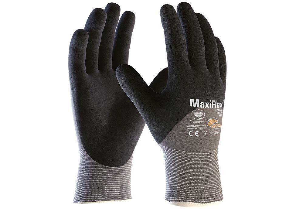 GTek 34-875 MaxiFlex Ultimate Nitrile Foam Coated Gloves 12 Pair Pack, Pick Size Business & Industrial