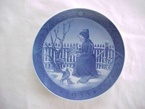 1955 Royal Copenhagen Denmark Annual Christmas Plate