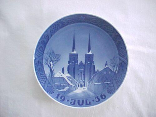 1936 Royal Copenhagen Denmark Annual Christmas Plate