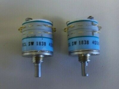 Rotary Switch 2 Pole 4 Position 2p4t Lot Of 2