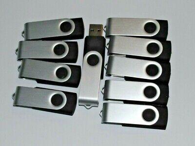 16GB USB Flash Drives Memory Stick Pen Drive Thumb - BLACK - 10 PACK