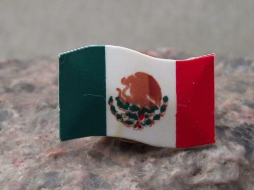 Antique Mexico Mexican National Waving Flag Tie Brooch Pin Hat Badge