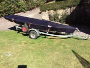 Laser Sail Boat & Galvanised Road Trailer West Pymble Ku-ring-gai Area Preview