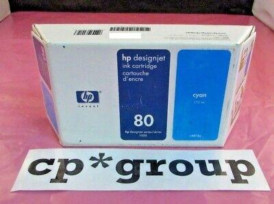 NEW SEALED BOX C4872A Genuine HP DesignJet 1050 1055 80 Cyan Ink Cartridge