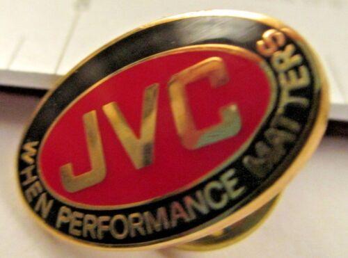 JVC WHEN PERFORMANCE MATTERS  lapel / hat pin