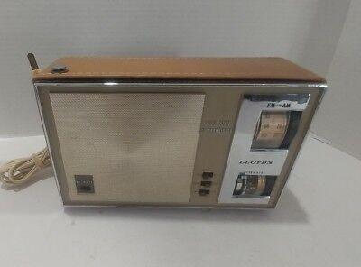 vintage solid state transistor radio works!! Lloyds model 7n41e... 9x6x4