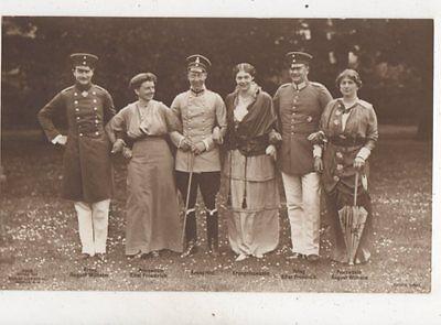 August Wilhelm Eitel Friedrich & Prinzessin RP Postcard Germany Royalty 042b