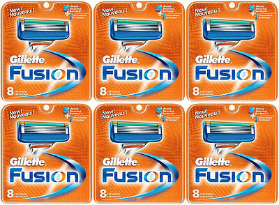 Used, NEW AUTHENTIC Gillette Fusion Razor Blades Cartridge Refills - 48 Count for sale  Calgary