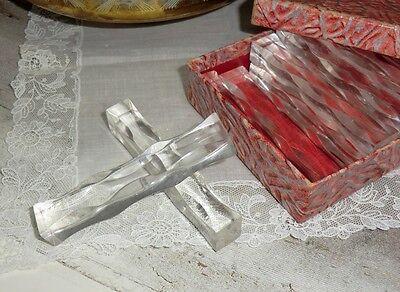 N°1457 12 Messerbänkchen Kunststoff in kleiner Schachtel älter Belgien gebraucht