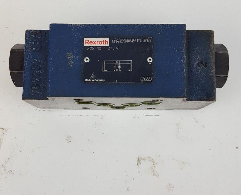 REXROTH R900407439 FD 10907 HYDRAULIC CHECK VALVE