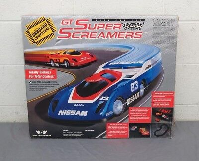 RARE 1990 WoW Worlds of Wonder GT Super Screamers Slotless Race Car Set GREAT for sale  Shipping to Canada