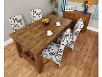 Provincial Coarse-Cut Oak Refectory Dining Table Four-Seater