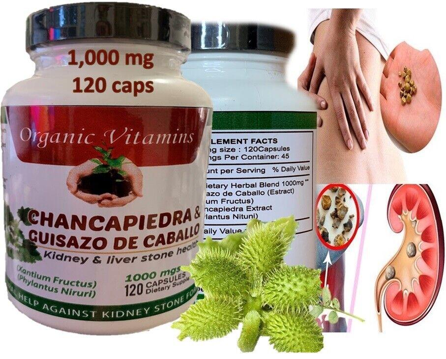2 Guisazo de Caballo & Chanca Piedra Capsules Pastillas Para Los Riñones Pills 4