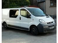 Vauxhall vivaro lwb crew van